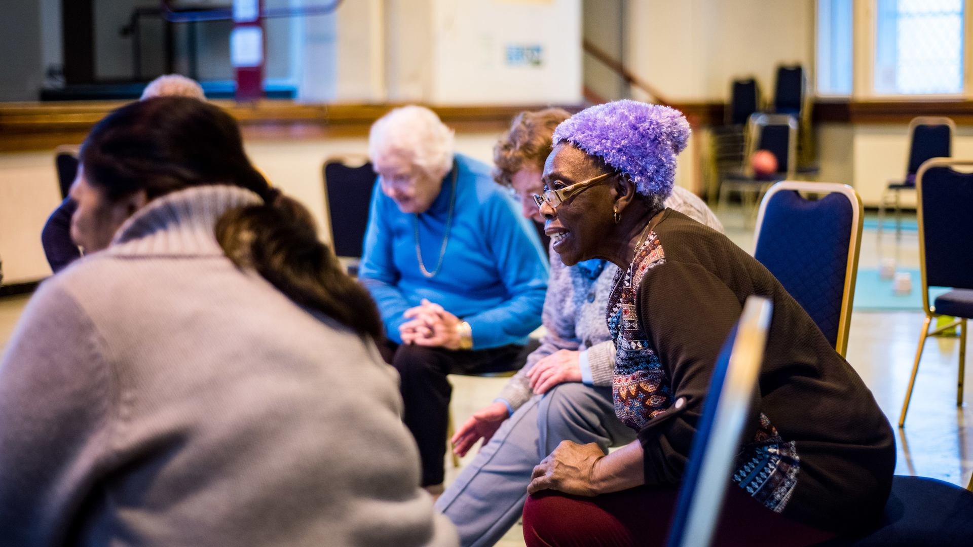 Older people in a falls prevention class