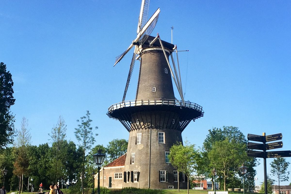 Windmill on a sunny day.