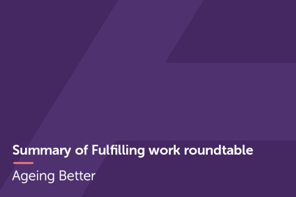 Fulfilling work roundtable