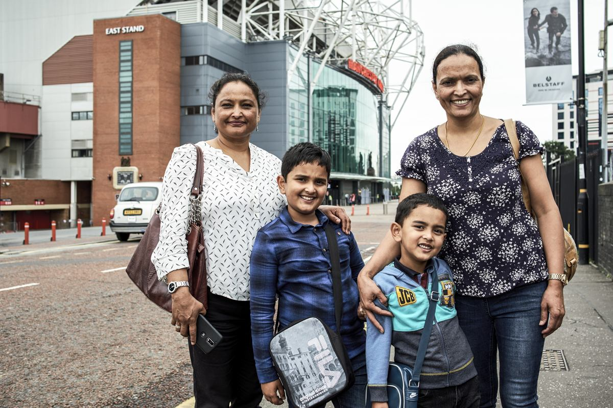 Intergenerational family, Old Trafford - Manchester