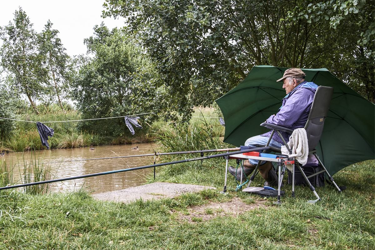 Man fishing, Bickershaw - Greater Manchester