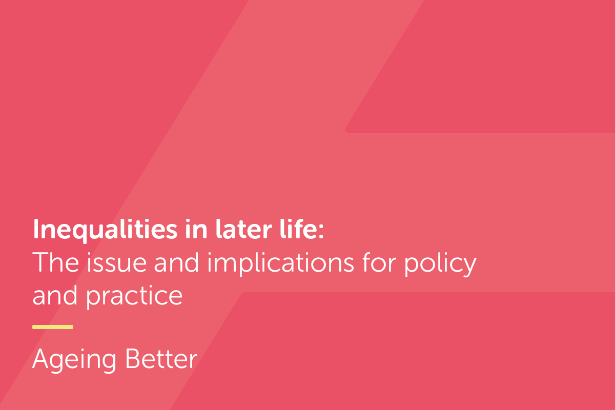 Front cover for report on inequalities in later life
