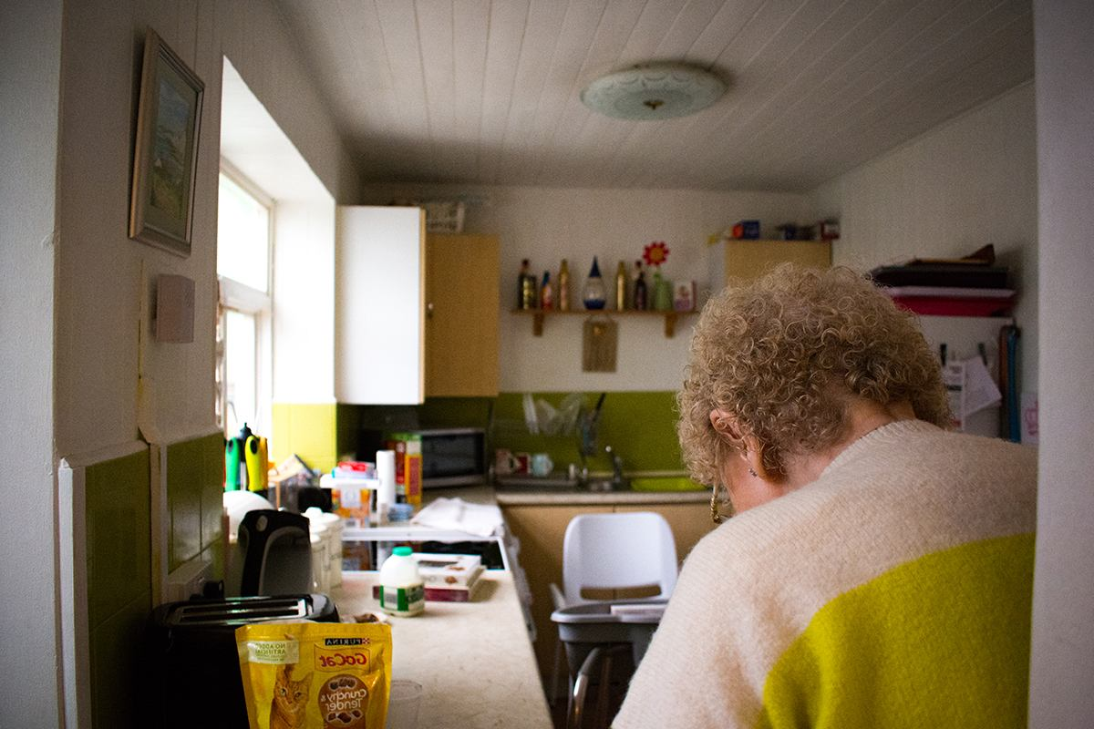 Older woman in kitchen