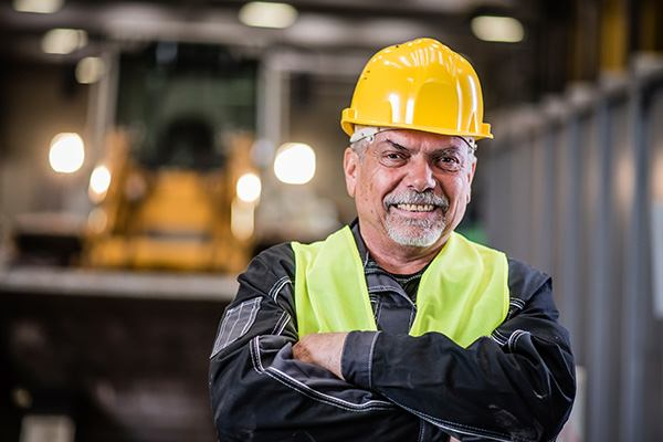 man in hard hat