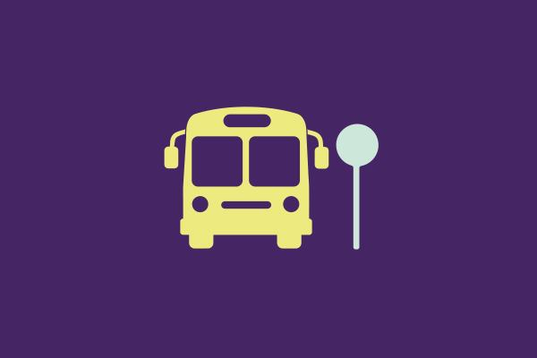 icon of bus for taking a local approach to ageing programme