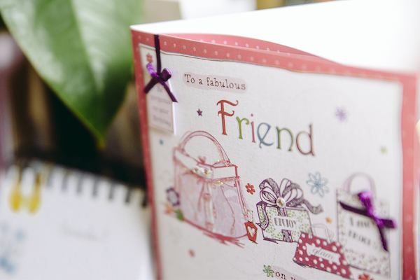 """Friend"" greetings card"