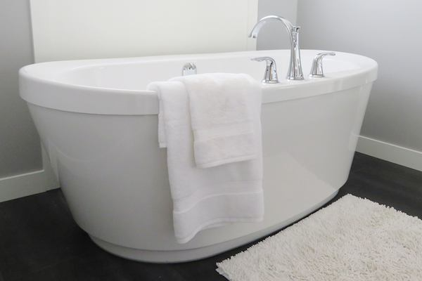 Large white bath